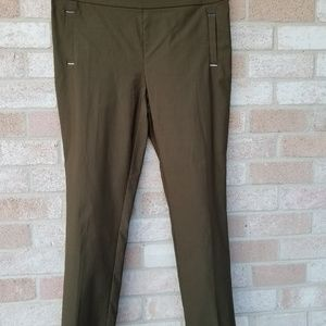 Jules & Leopold Army Green Pull-OnSkinny Pants
